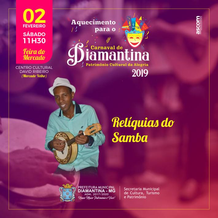 foto de AQUECIMENTO PARA O CARNAVAL DE DIAMANTINA 2019