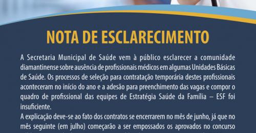 Ilustração da notícia: NOTA DE ESCLARECIMENTO