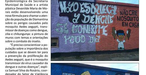 Ilustração da notícia: ARTE E CONSCIENTIZAÇÃO NO COMBATE AO MOSQUITO TRANSMISSOR DA DENGUE
