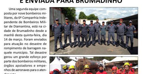 Ilustração da notícia: EQUIPE DE BOMBEIROS DE DIAMANTINA É ENVIADA PARA BRUMADINHO
