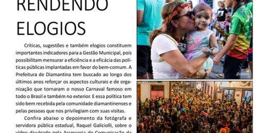 Ilustração da notícia: CARNAVAL DE DIAMANTINA CONTINUA RENDENDO ELOGIOS