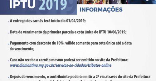Ilustração da notícia: IPTU 2019 – INFORMAÇÕES