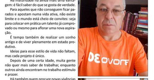 Ilustração da notícia: NUNCA É TARDE PARA COMEÇAR E RECOMEÇAR