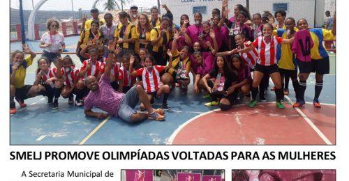 Ilustração da notícia: SMELJ PROMOVE OLIMPÍADAS VOLTADAS PARA AS MULHERES
