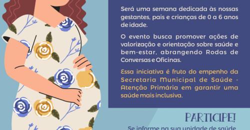Ilustração da notícia: 2ª SEMANA MATERNO-INFANTIL DE DIAMANTINA  – 20 A 24 DE MAIO DE 2019