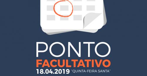 """Ilustração da notícia: PONTO FACULTATIVO 18.04.2019 """"QUINTA-FEIRA SANTA"""""""