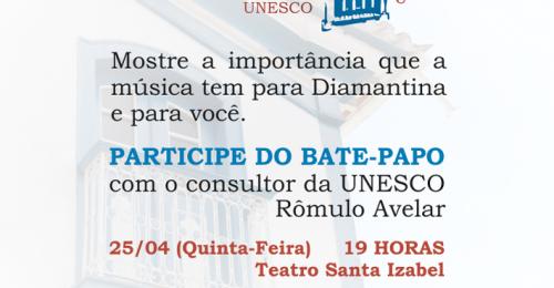Ilustração da notícia: BATE-PAPO COM O CONSULTOR DA UNESCO, RÔMULO AVELAR