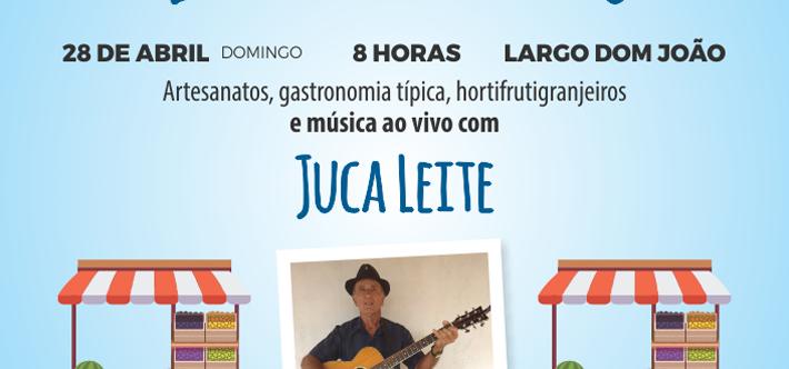 Ilustração da notícia: FEIRA LIVRE DO LARGO DOM JOÃO DOMINGO, 28 DE ABRIL DE 2019