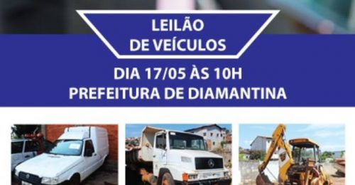 Ilustração da notícia: LEILÃO DE VEÍCULOS EM DIAMANTINA
