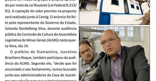 Ilustração da notícia: LEI ROUANET GARANTIRÁ REABERTURA DA CASA DE JUSCELINO EM DIAMANTINA
