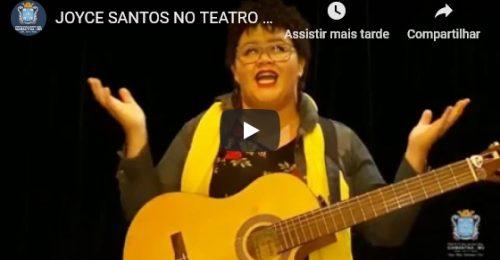 Ilustração da notícia: JOYCE SANTOS NO TEATRO SANTA IZABEL