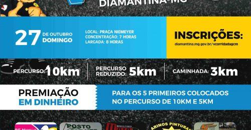 Ilustração da notícia: V CORRIDA DA GCM DIAMANTINA/MG