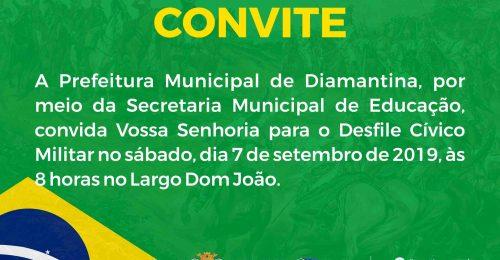 Ilustração da notícia: CONVITE PARA O DESFILE CÍVICO MILITAR DE 7 DE SETEMBRO