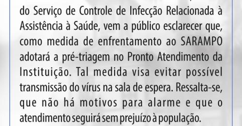 Ilustração da notícia: NOTA DE ESCLARECIMENTO – SANTA CASA DE CARIDADE DE DIAMANTINA