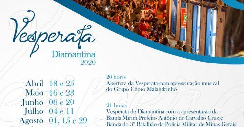 Ilustração da notícia: VESPERATA DE DIAMANTINA – PROGRAMAÇÃO 2020