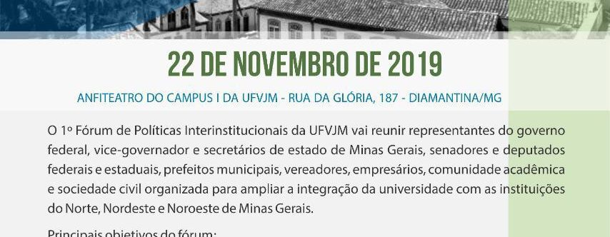 Ilustração da notícia: A UFVJM, EM PARCERIA COMA PREFEITURA MUNICIPAL,CONVIDA:
