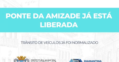 Ilustração da notícia: PONTE DA AMIZADE, NO DISTRITO DE INHAÍ, JÁ ESTÁ LIBERADA!