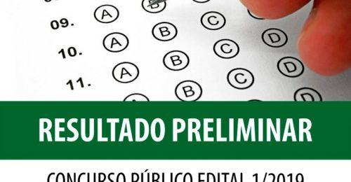 Ilustração da notícia: RESULTADO PRELIMINAR CONCURSO PÚBLICO EDITAL 1/2019