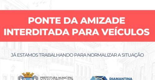 Ilustração da notícia: PONTE DO DISTRITO DE INHAÍ INTERDITADA!