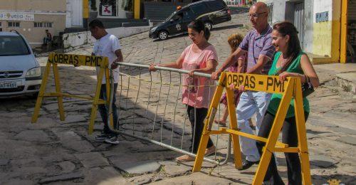 Ilustração da notícia: PREFEITURA DE DIAMANTINA ENTREGA TRECHO DA RUA DO FOGO REVITALIZADO