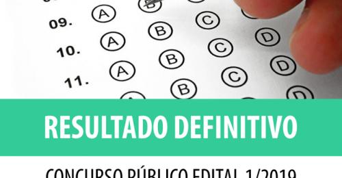 Ilustração da notícia: RESULTADO DEFINITIVO CONCURSO PÚBLICO EDITAL 1/2019
