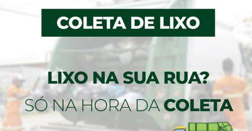 Ilustração da notícia: COLETA DE LIXO – LIXO NA RUA? SÓ NA HORA DA COLETA