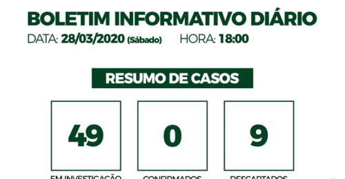 Ilustração da notícia: CORONAVÍRUS – COVID-19 – BOLETIM INFORMATIVO DIÁRIO – 28/03/2020