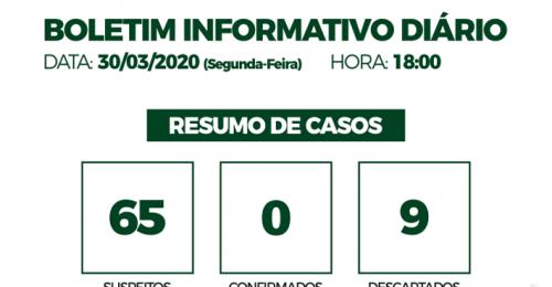 Ilustração da notícia: CORONAVÍRUS – COVID-19 – BOLETIM INFORMATIVO DIÁRIO – 30/03/2020
