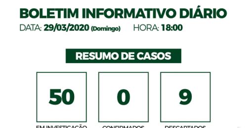 Ilustração da notícia: CORONAVÍRUS – COVID-19 – BOLETIM INFORMATIVO DIÁRIO – 29/03/2020
