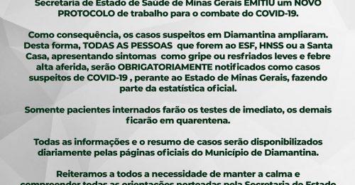 Ilustração da notícia: NOVO PROTOCOLO DE TRABALHO PARA O COMBATE DO COVID-19.