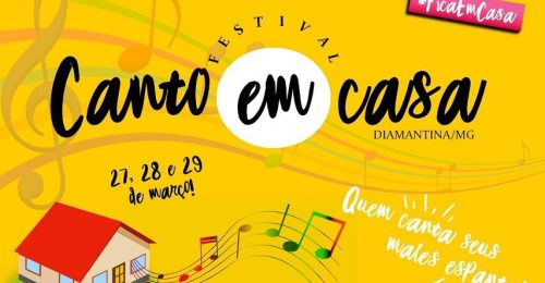 """Ilustração da notícia: FESTIVAL CANTO EM CASA: """"Quem Canta Seus Males Espanta!"""""""