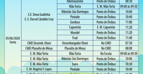 Ilustração da notícia: CRONOGRAMA DE ENTREGA DOS PET's