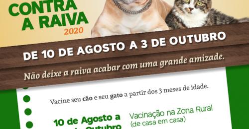 Ilustração da notícia: CAMPANHA DE VACINAÇÃO CONTRA A RAIVA 2020