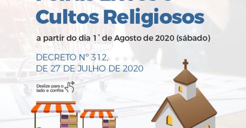 Ilustração da notícia: FLEXIBILIZAÇÃO DAS FEIRAS LIVRES E CULTOS RELIGIOSOS