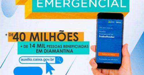 Ilustração da notícia: AUXÍLIO EMERGENCIAL:  MAIS DE 14 MIL PESSOAS BENEFICIADAS EM DIAMANTINA