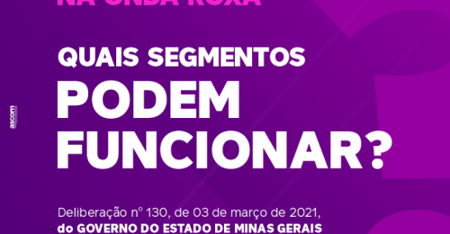 Ilustração da notícia: DIAMANTINA NA ONDA ROXA - Quais Segmentos PODEM FUNCIONAR?