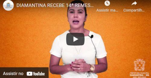 Ilustração da notícia: DIAMANTINA RECEBE 14ª REMESSA DE VACINA CONTRA A COVID-19
