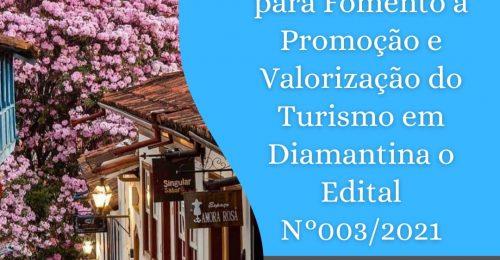 Ilustração da notícia: Seleção Pública para Fomento à Valorização e Promoção do Turismo em Diamantina: Edital N.º 003/2021