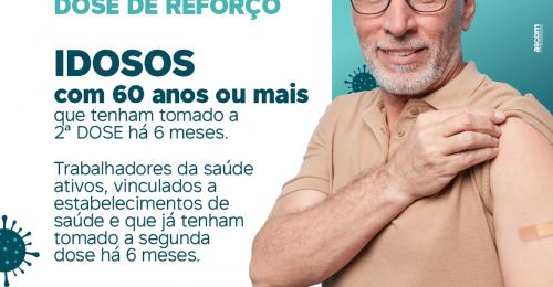 Ilustração da notícia: VACINAÇÃO CONTRA A COVID-19💉 – DOSE DE REFORÇO