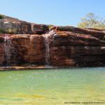 Foto de poço da cachoeira