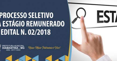 Ilustração da notícia: PROCESSO SELETIVO PARA ESTÁGIO REMUNERADO – EDITAL N. 02/2018