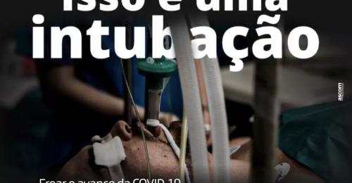 Ilustração da notícia: Isso é uma intubação