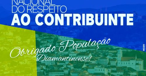 Ilustração da notícia: OBRIGADO POPULAÇÃO DIAMANTINENSE