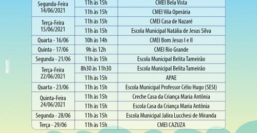 Ilustração da notícia: Cronograma de Entrega de Kits de Alimentação Escolar – SEDE, Distritos e Povoados
