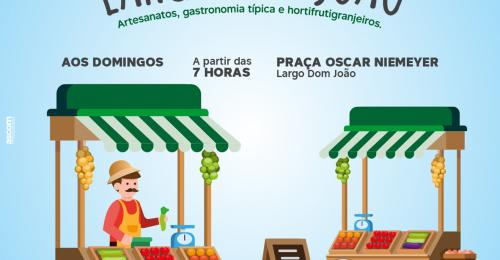 Ilustração da notícia: FEIRA LIVRE DO LGARGO DOM JOÃO – 10/10/2021