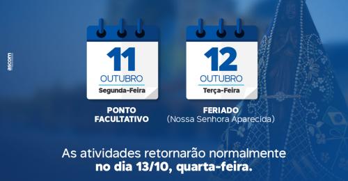 Ilustração da notícia: PONTO FACULTATIVO – 11/10/2021