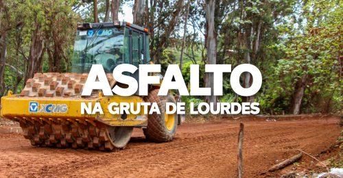 Ilustração da notícia: ASFALTO NA GRUTA DE LOURDES